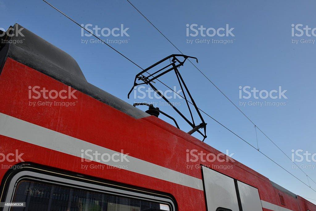 Detail Electric Train stock photo