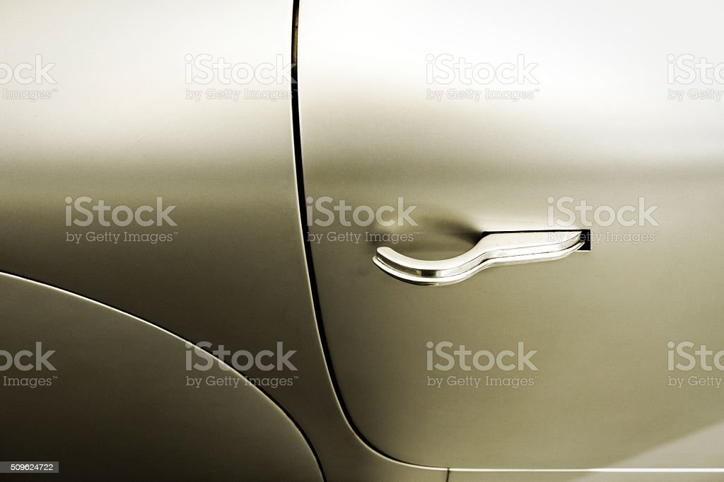 Detail from a car door stock photo