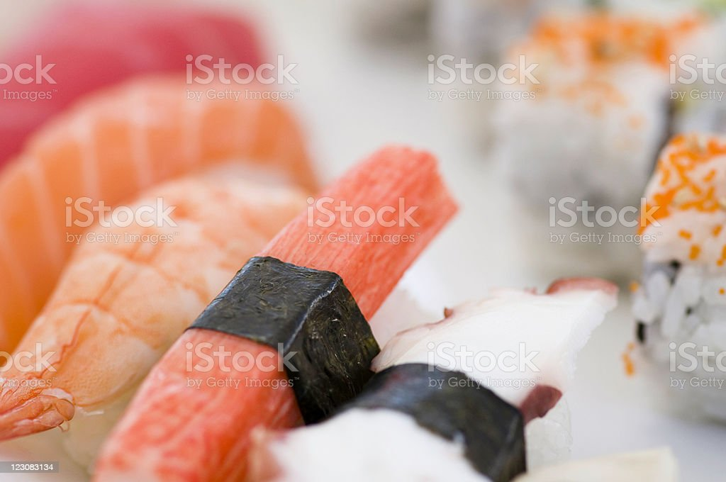 Detail from a sushi platter royalty-free stock photo