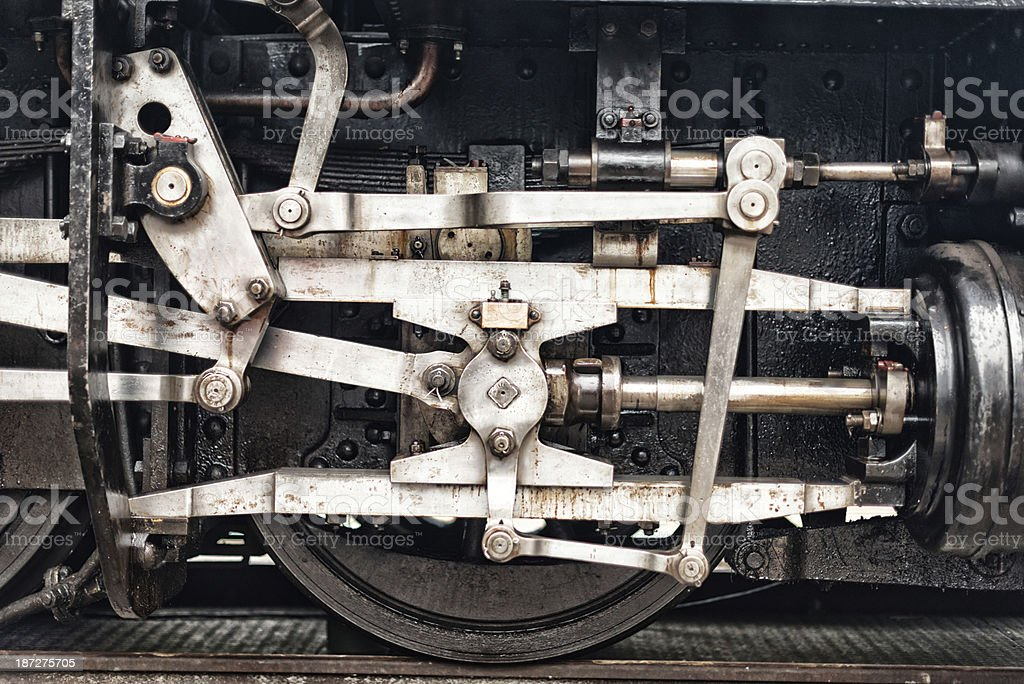 detail from an old steam train engine locomotive stock photo