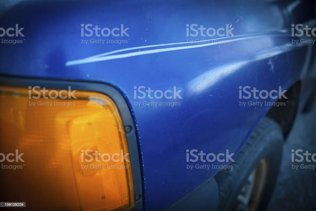 Detail from blue truck royalty-free stock photo