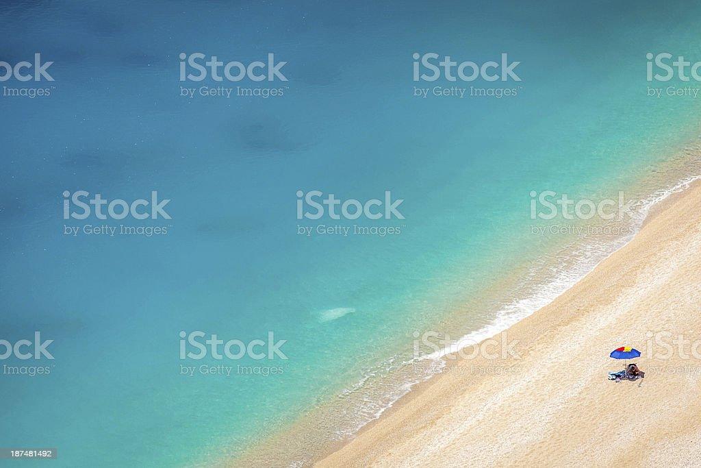 Detail from Egremni beach, Lefkada, Greece stock photo