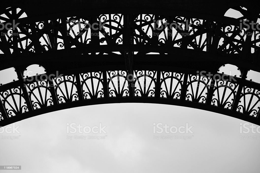 Detail from Eiffeltower, Paris stock photo