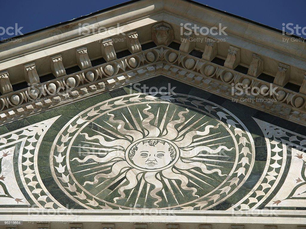 Detail from facade of Santa Maria Novella - Florence royalty-free stock photo