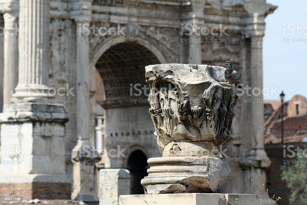 Detail from Forum Romanum royalty-free stock photo