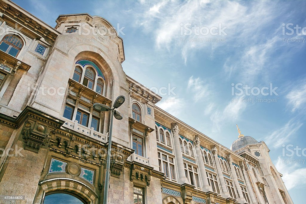 Detail From Grand Post Office, Istanbul, Turkey stock photo
