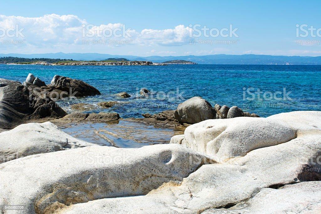 Detail from Karidi beach, Sithonia - Greece stock photo