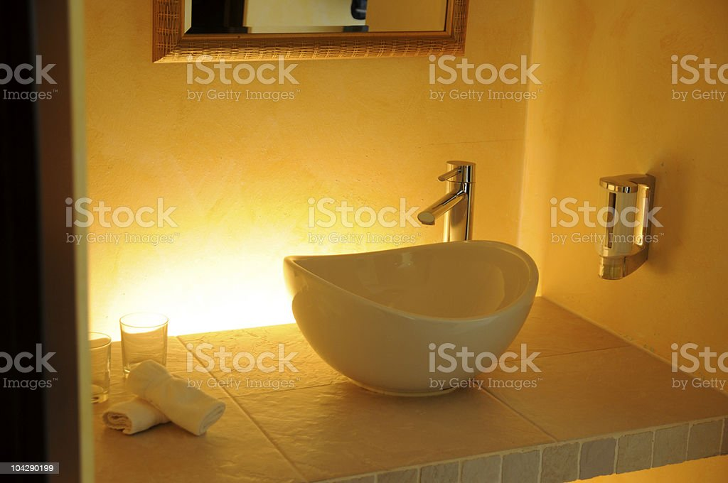 detail from modern lavatory with wash basin royalty-free stock photo