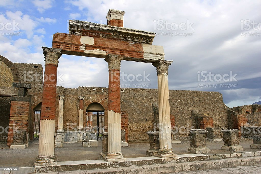 Detail from Pompei stock photo
