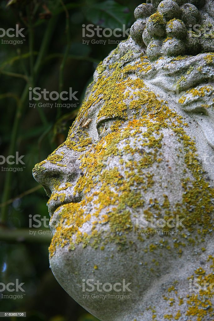 Detail from statue in Barwick, UK stock photo