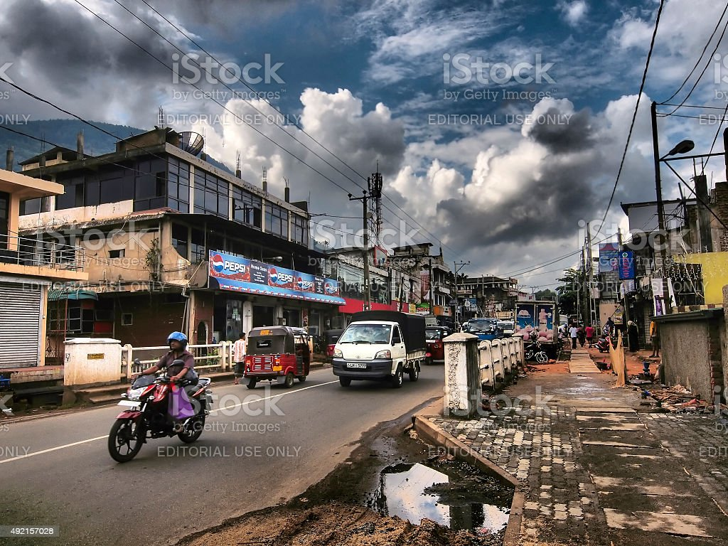 Detail from street in Matale, central Sri Lanka stock photo
