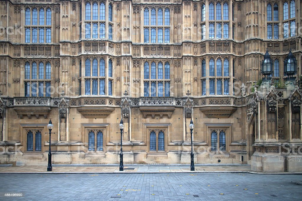 Detail from the Houses of Parliament stock photo