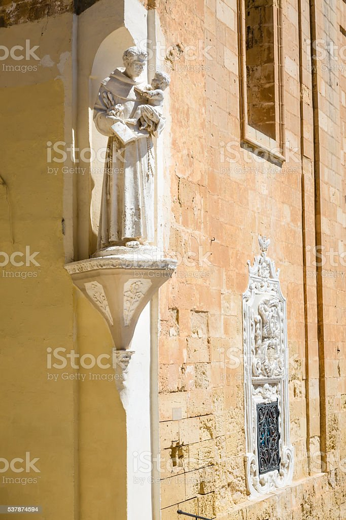 Detail from the streets of Valletta, Malta stock photo