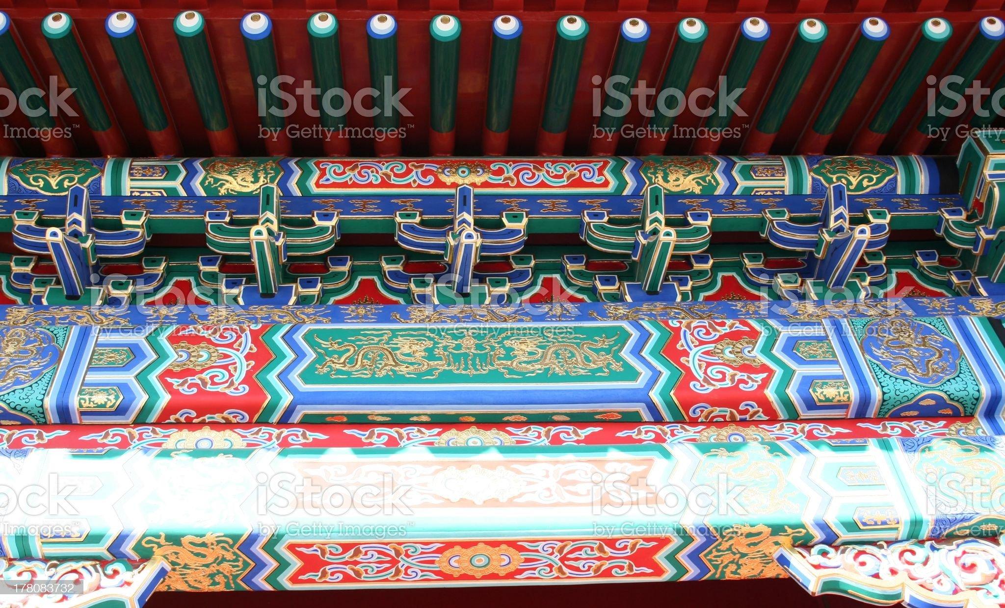 Detail Gate near Hall of Supreme Harmony, Forbidden City, Beijing royalty-free stock photo