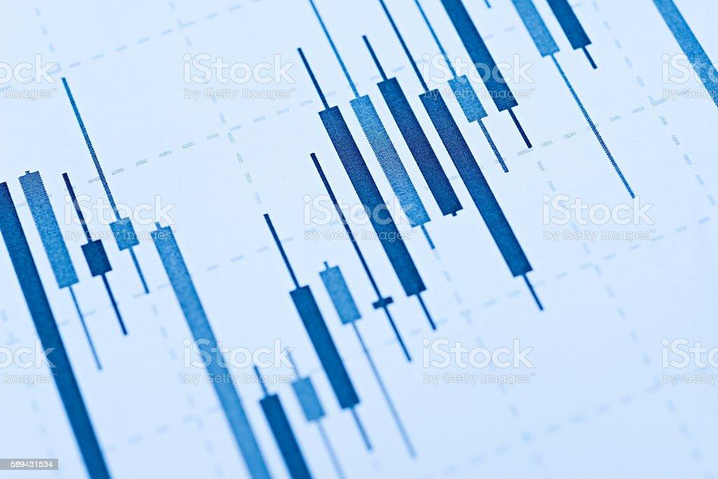 Detail graphics stock exchange stock photo
