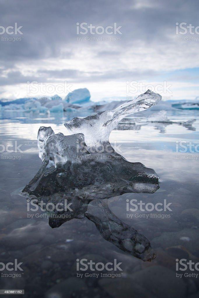 Detail Iceberg,Iceland stock photo