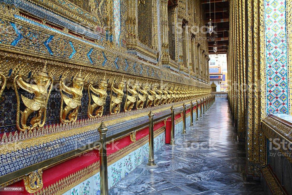 Detail in Grand Palace in Bangkok, Thailand stock photo