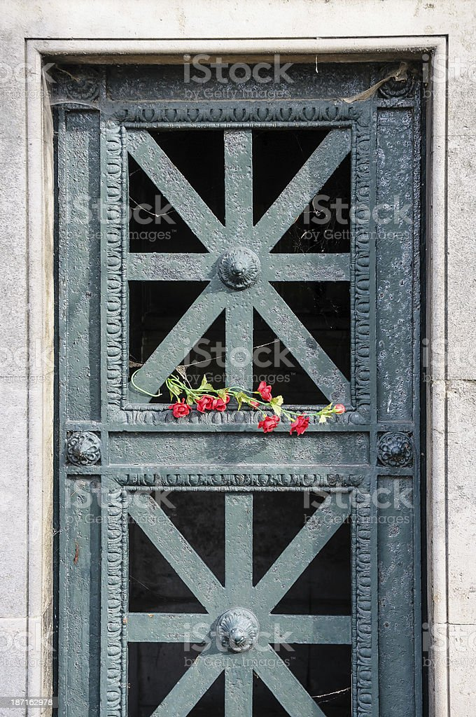 Detail in Pere Lachaise Cemetery stock photo