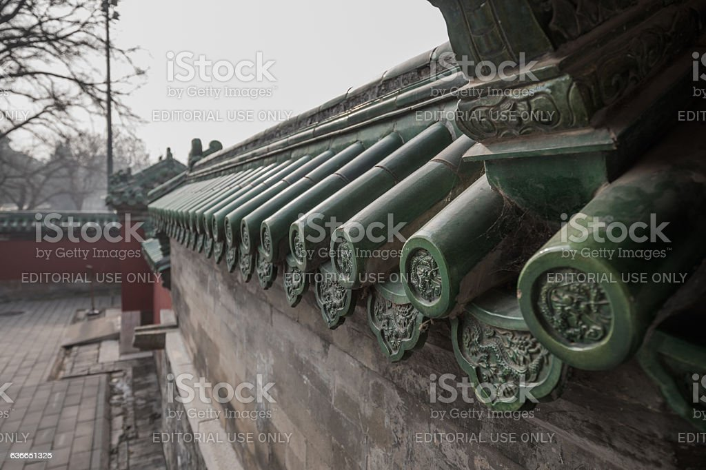 Detail in Temple of Heaven, Beijing, China stock photo