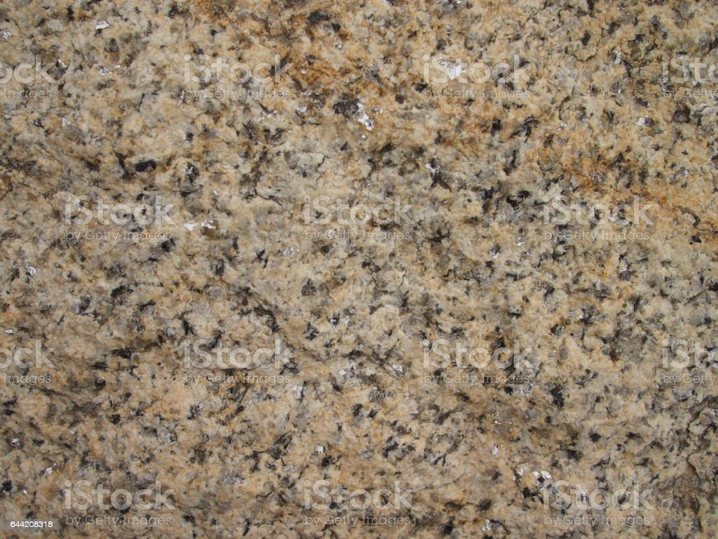 Detail look at Biotite Granite stone from the Czech Republic stock photo