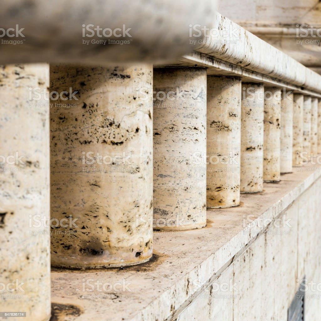 detail marble columns stock photo
