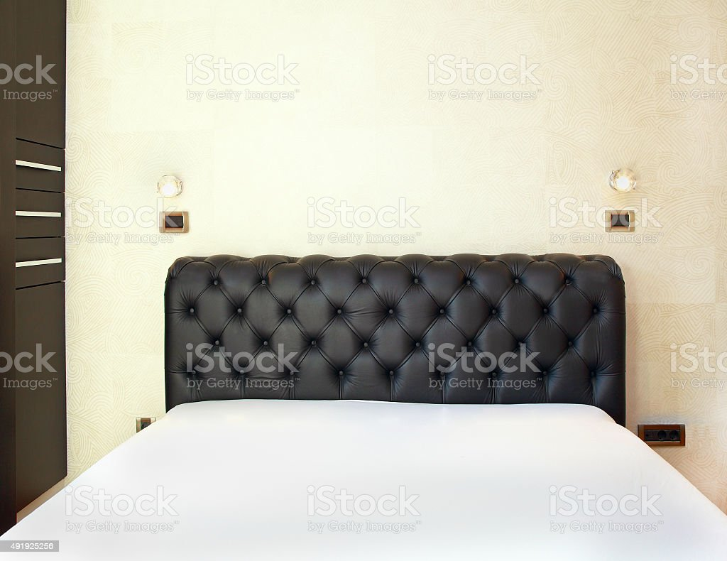 Detail modern bed stock photo