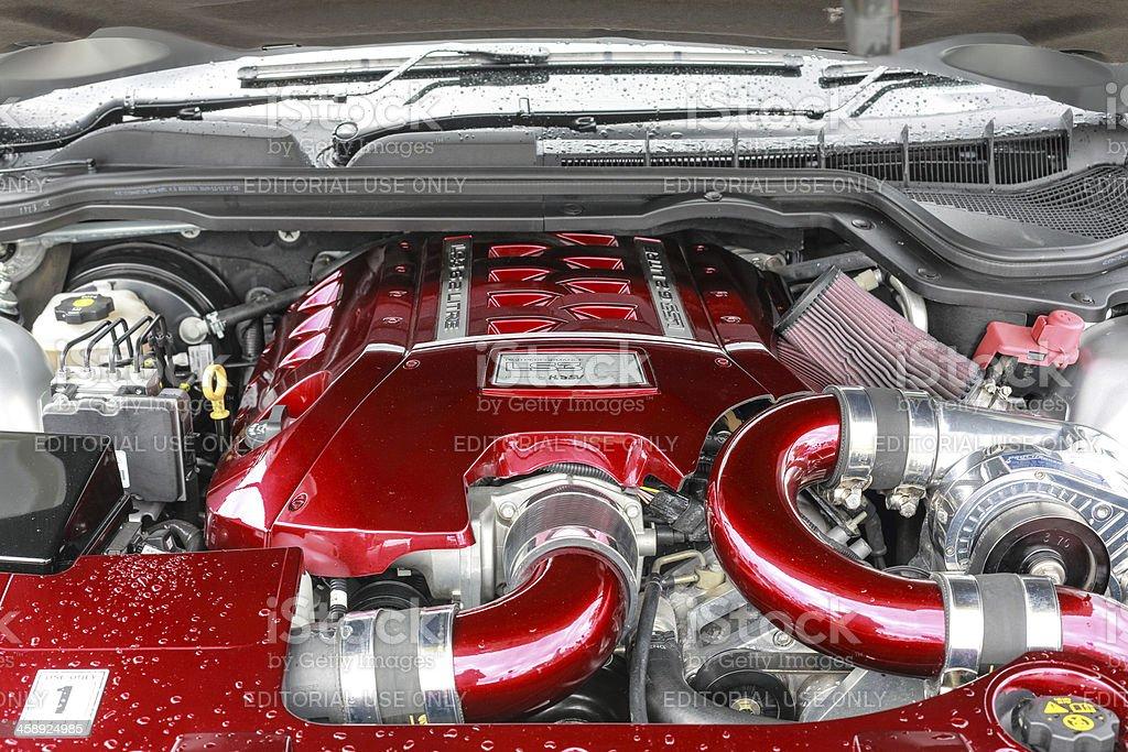 Detail modern V8 GMH engine comparment stock photo