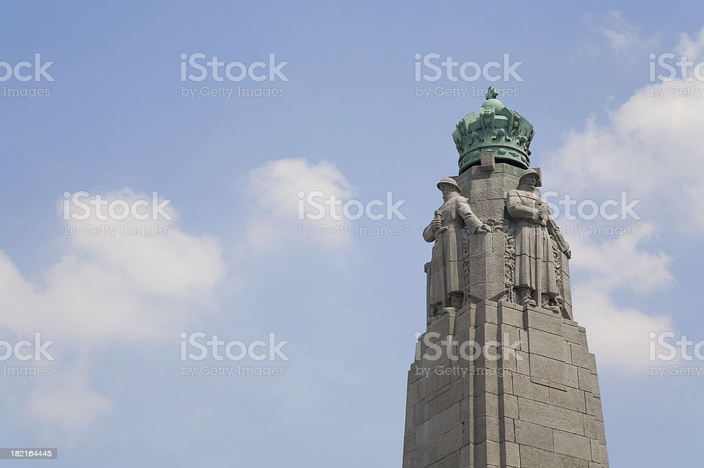 Detail Monument to the glory of Belgian Infantry stock photo
