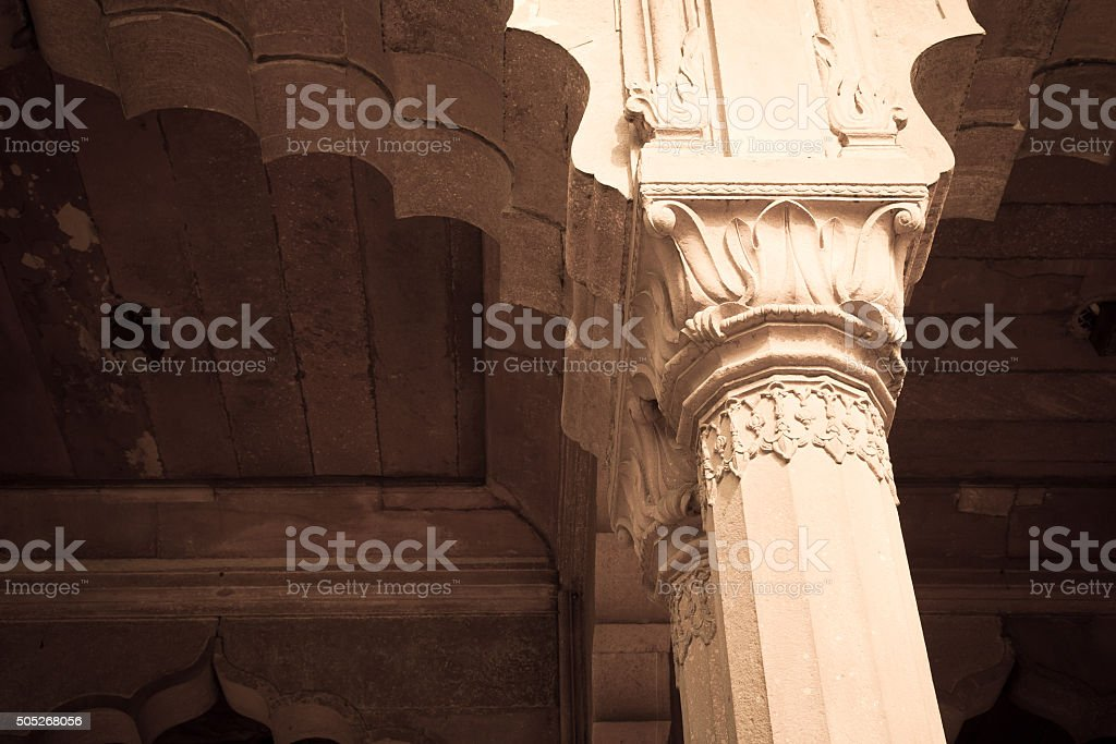 Detail Mughal Architecture stock photo