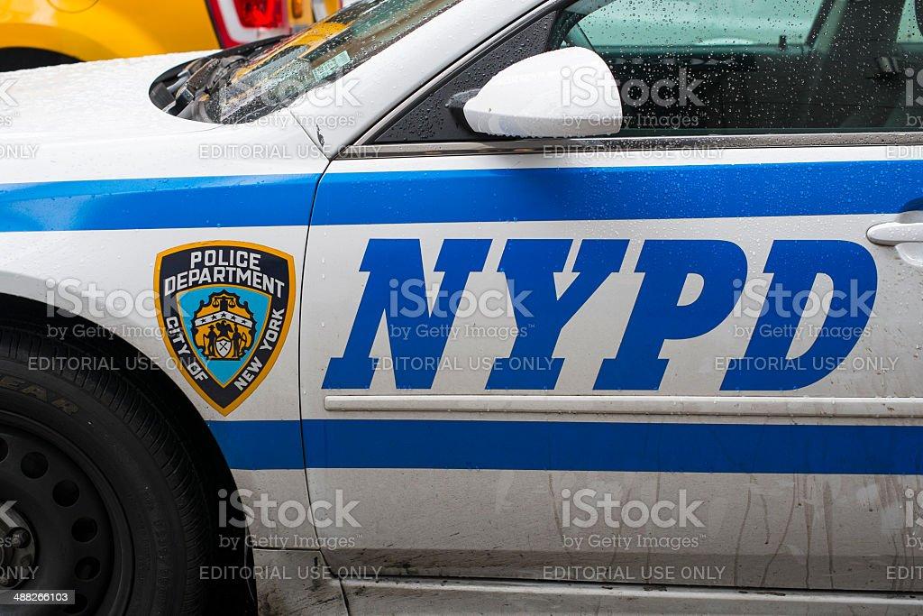 Detail New York Police car stock photo