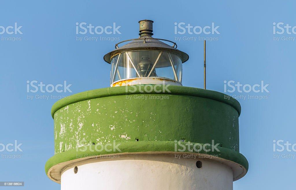 Detail of a abandoned lighthouse near Palau (Sardinia,Italy). stock photo