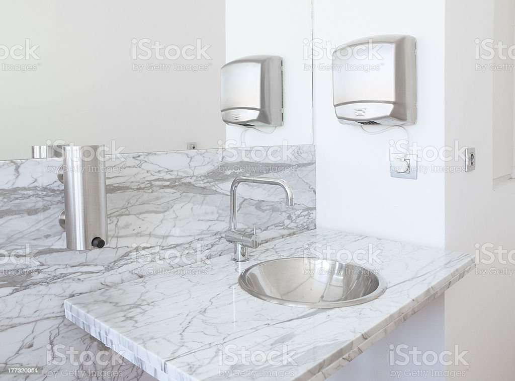 Detail of a bathroom stock photo