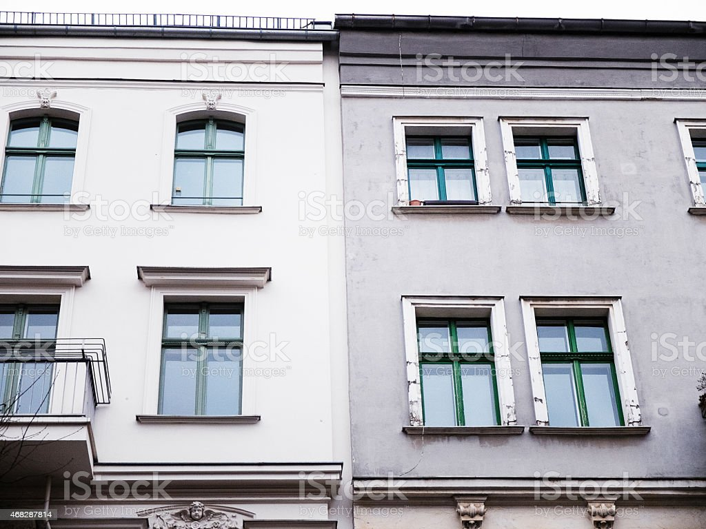 Detail of a beautiful old town house stock photo