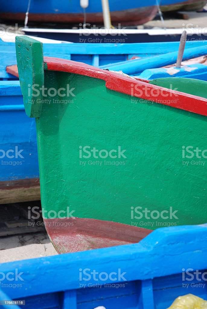 detail of a boat in Italy stock photo