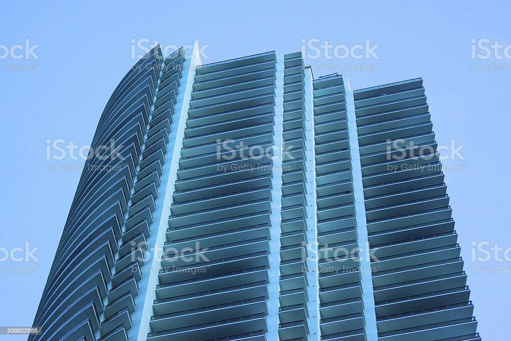 Detail von einem Gebäude in Miami, Florida. Lizenzfreies stock-foto