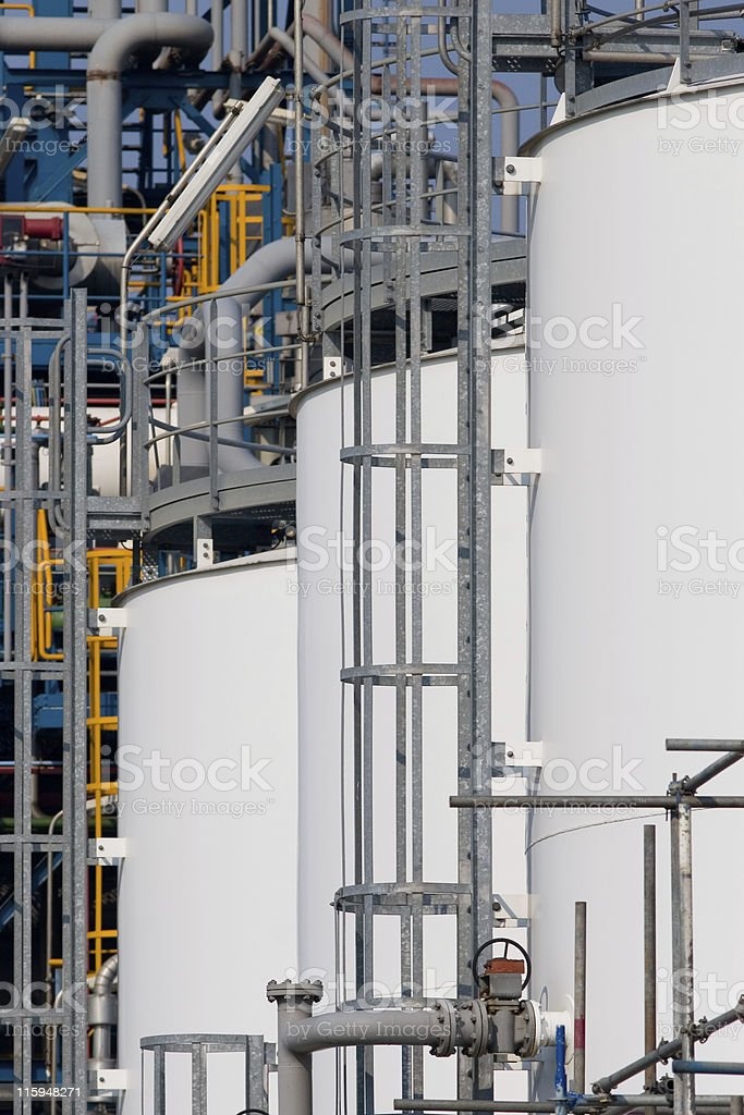 Detail of a chemical plant royalty-free stock photo