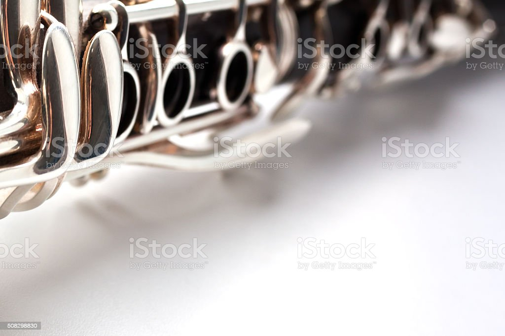 Detail of a clarinet stock photo