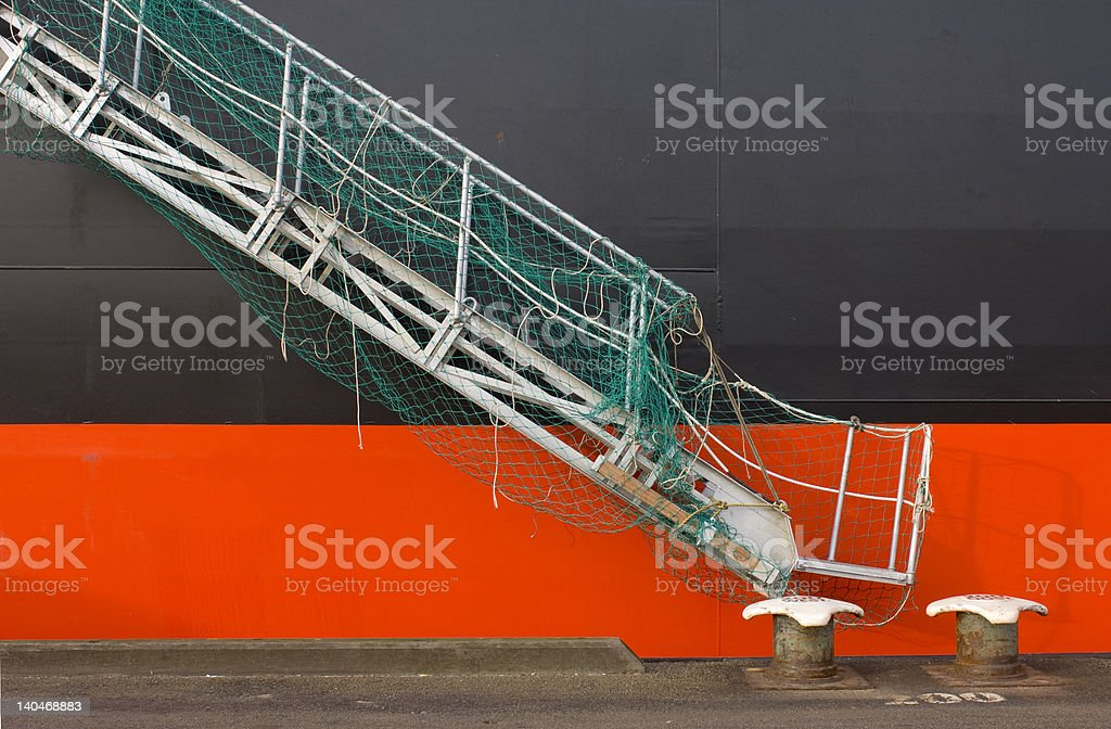 Detail of a container vessel stock photo