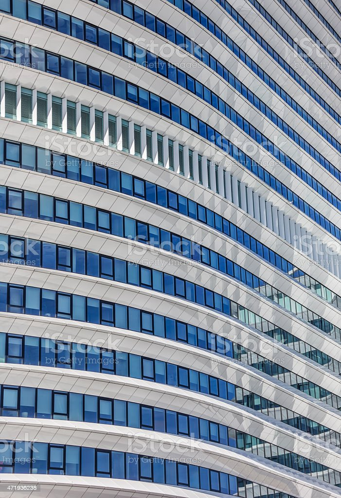 Detail of a contemporary office building in Groningen stock photo