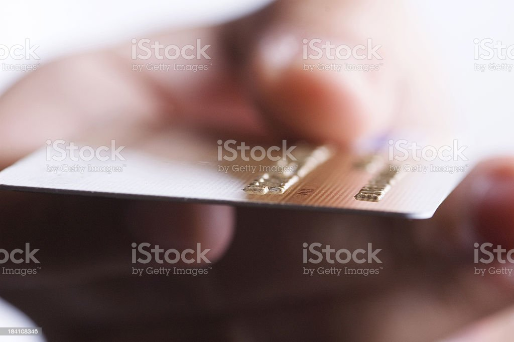detail of a credit card stock photo