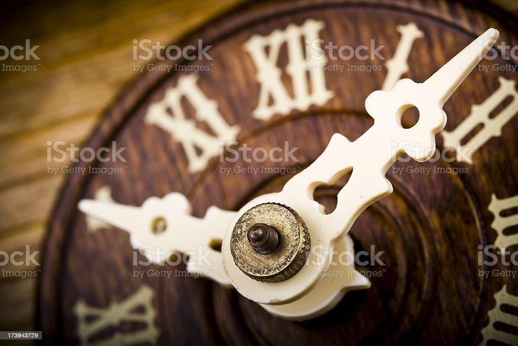 Detail of a cuckoo clock royalty-free stock photo