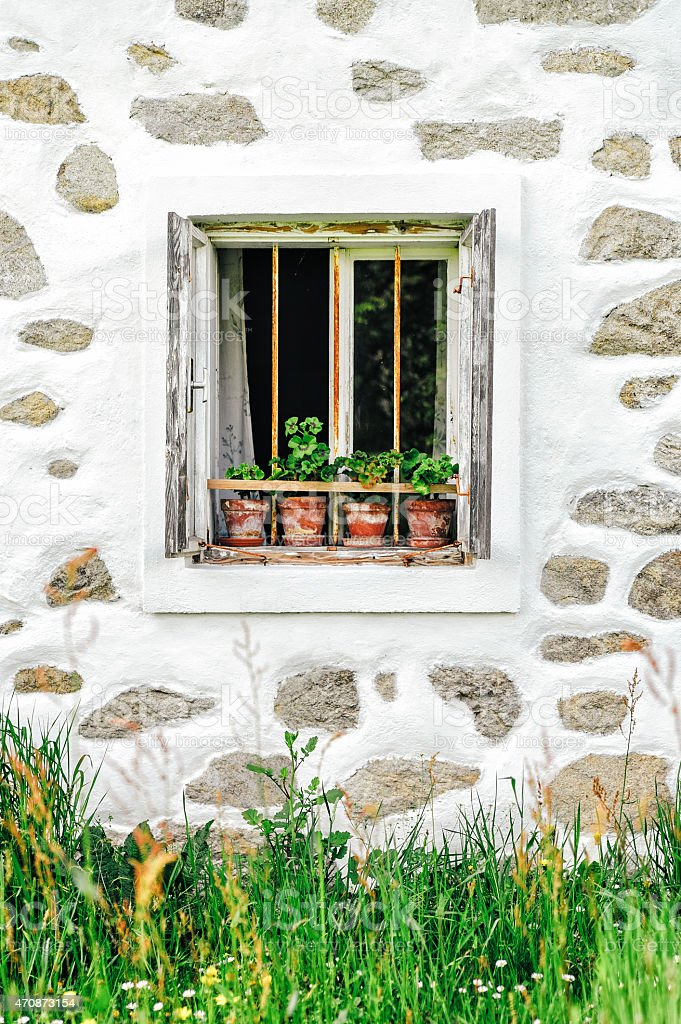 Detail of a farmhouse in upper austria stock photo
