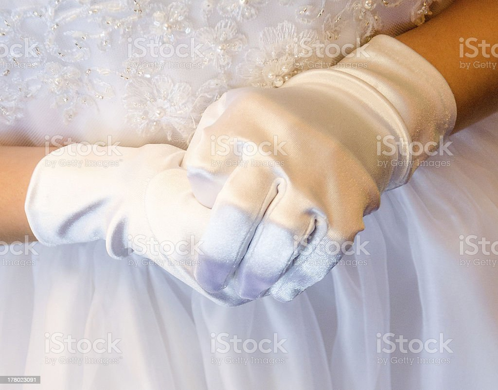Detail of a First Communion royalty-free stock photo