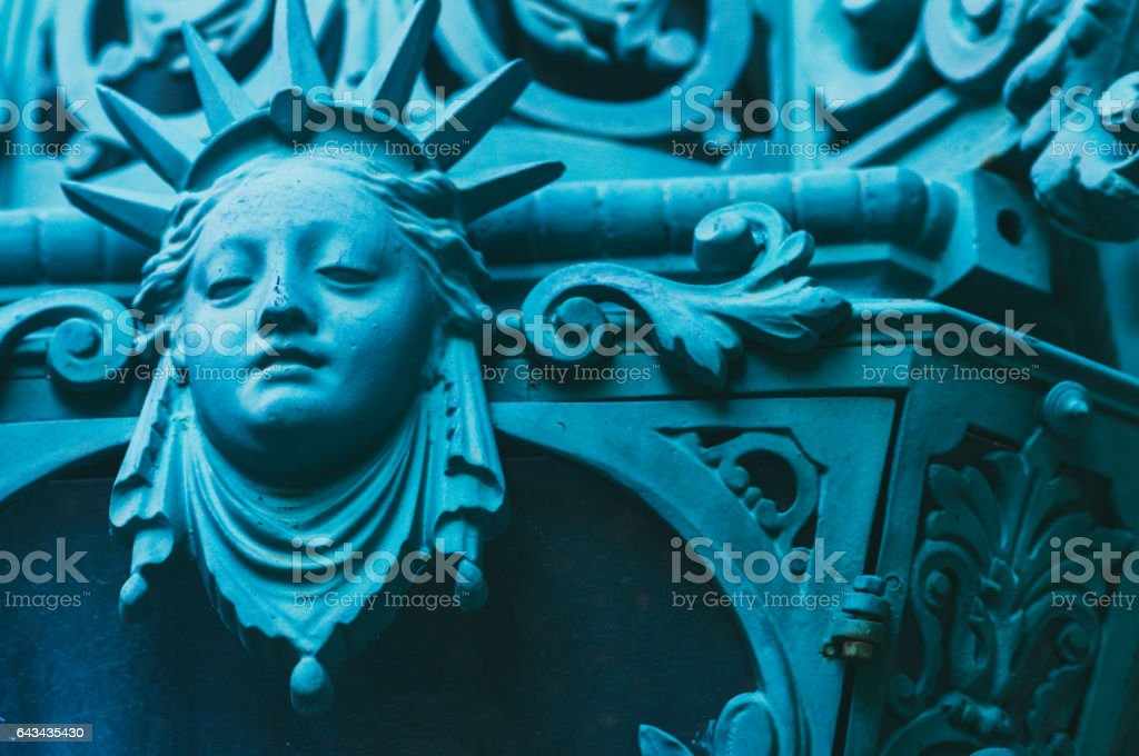 Detail of a fountain stock photo
