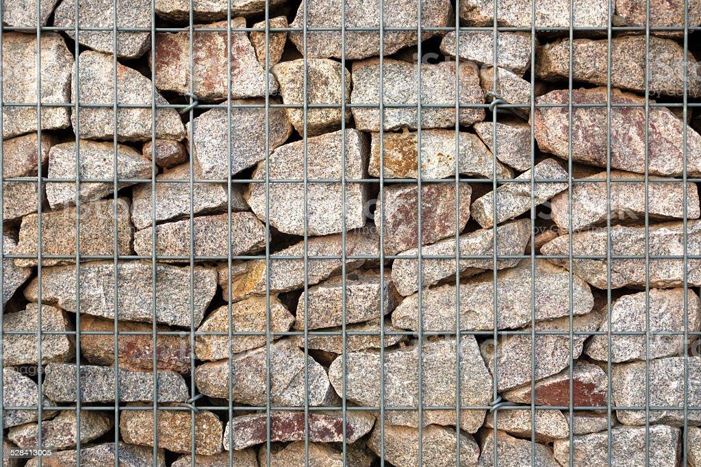 Detail of a gabion royalty-free stock photo
