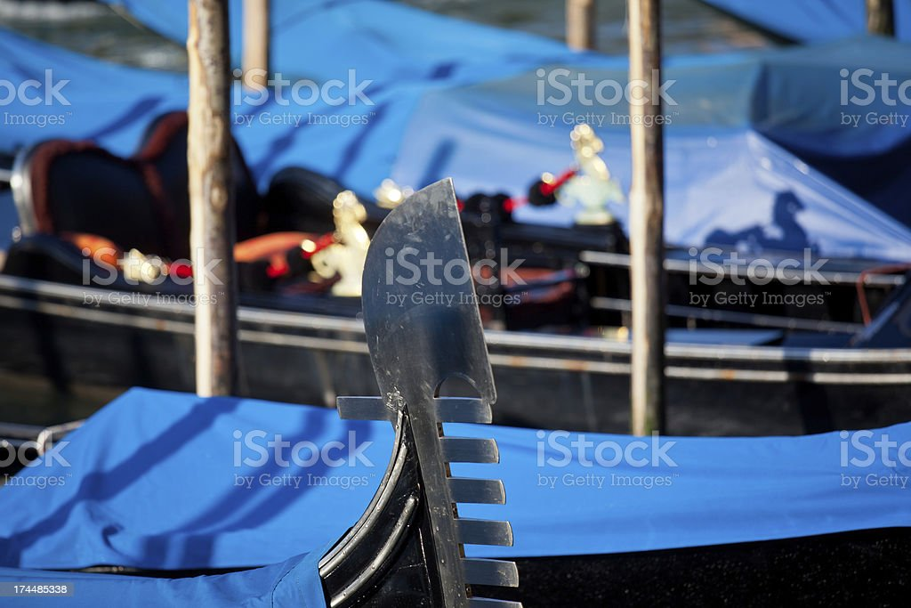 Detail of a gondola royalty-free stock photo