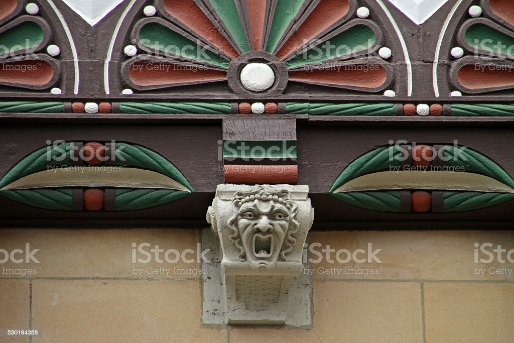 Detail of a half-timbered house in Braunschweig stock photo
