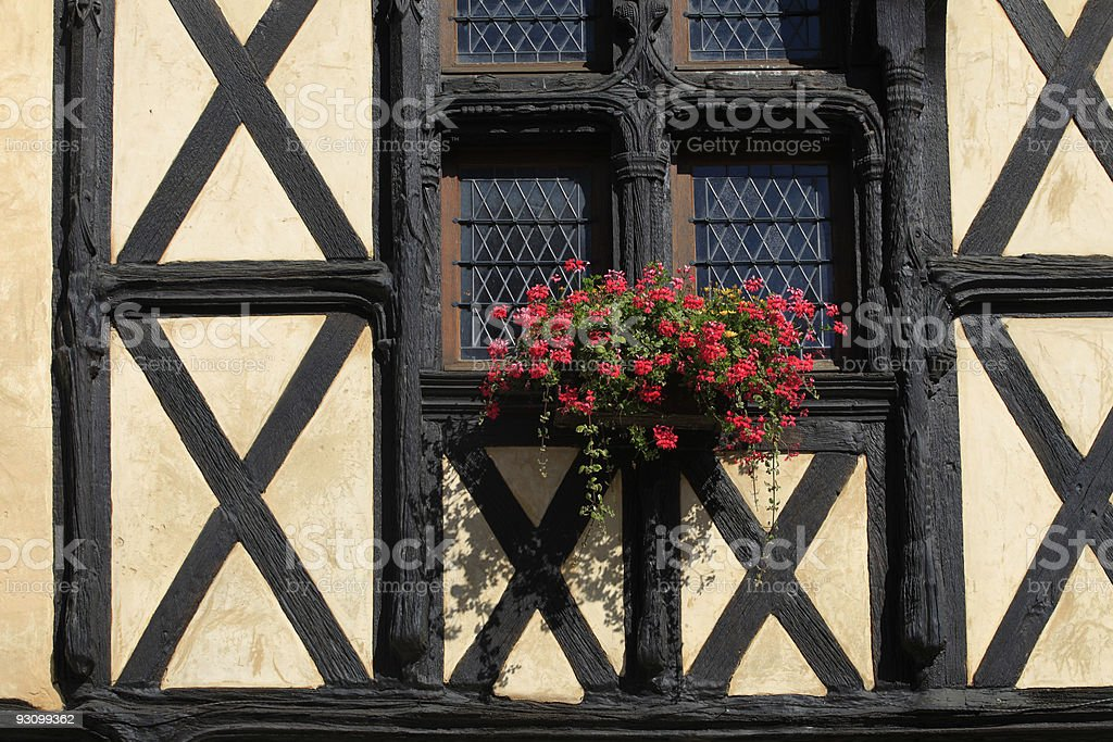 detail of a half-timbered house royalty-free stock photo