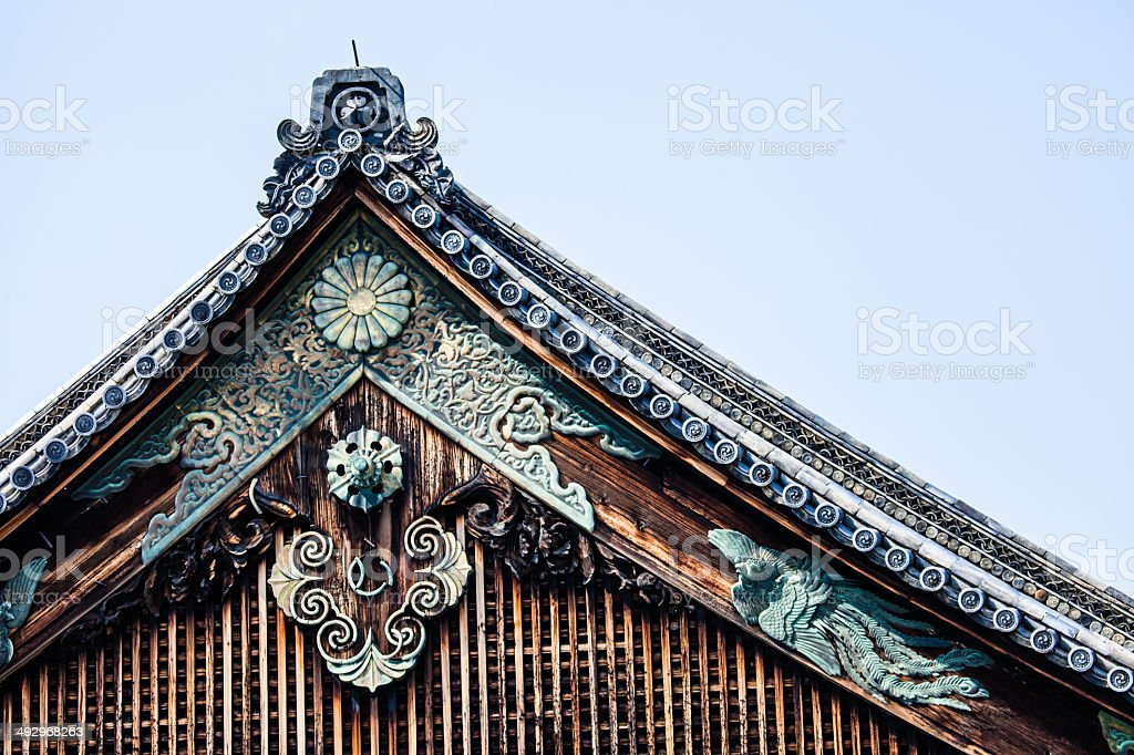 Detail of a japanese roof stock photo