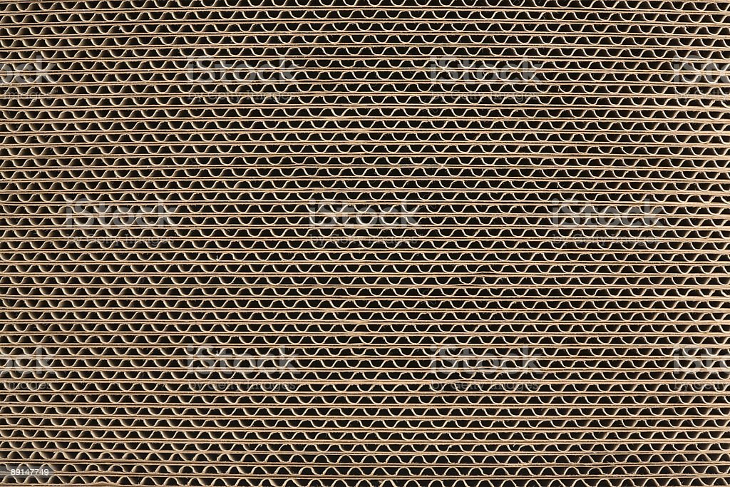 Detail of a Layered Stack of Corrugated Cardboard Background royalty-free stock photo